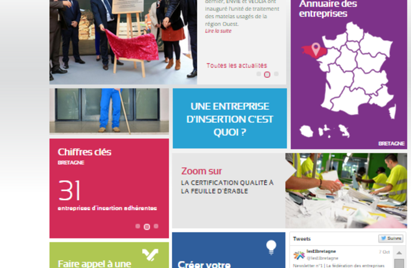 Visuel page d'accueil site internet