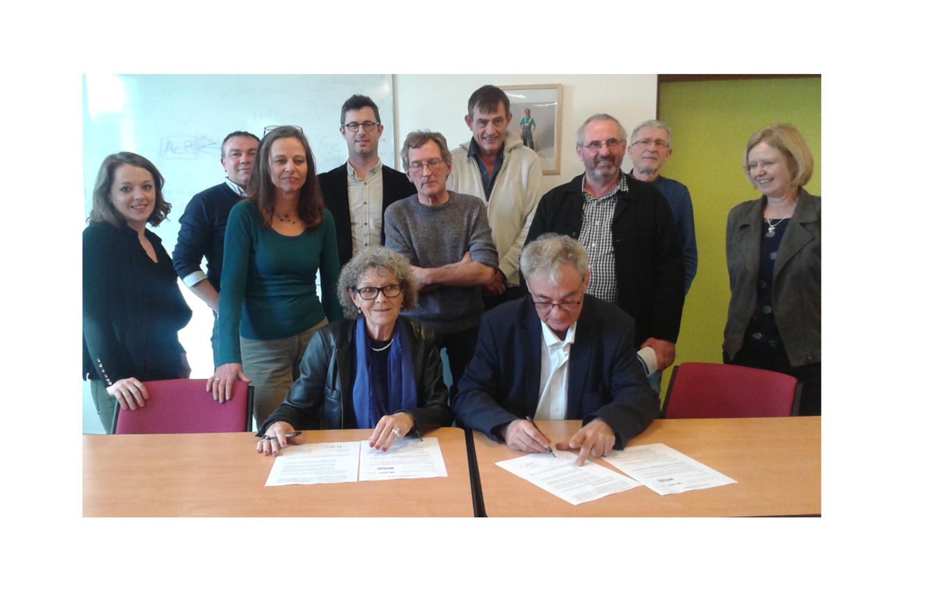 signature accord de partenariat fédération des EI chantier Ecole bretagne
